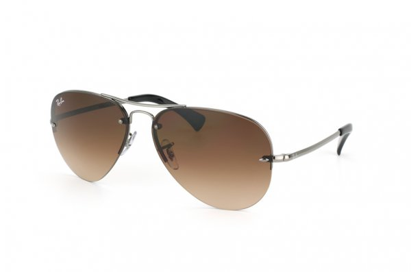 Очки Ray-Ban Highstreet RB3449-004-13 Gunmetal | Poly. Gradient Brown