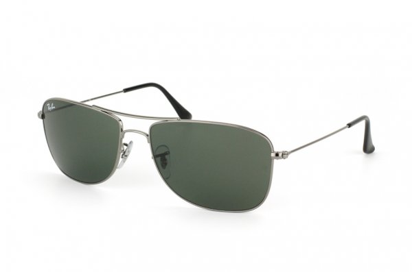 Очки Ray-Ban Highstreet RB3477-004 Gunmetal | Natural Green (G-15XLT)