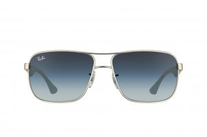 Очки Ray-Ban Highstreet RB3516-019-8G Matte Silver | Gradient Grey