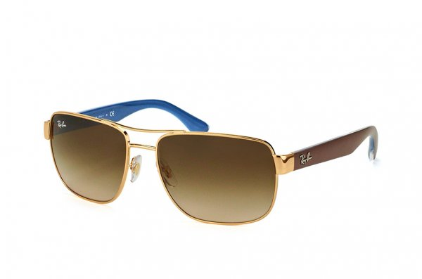 Очки Ray-Ban Highstreet RB3530-001-13 Arista/Brown/Blue | Gradient Brown