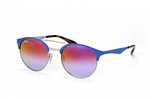 Очки Ray-Ban Highstreet RB3545-9005-A9 Blue/Silver | Pink Violet