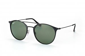 Очки Ray-Ban Highstreet RB3546-186-9A Black | Natural Green Polarized