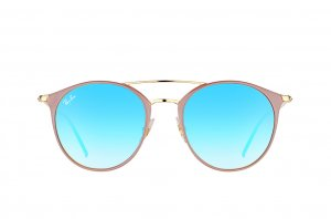 Очки Ray-Ban Highstreet RB3546-9011-8B Brown/Arista| Violet Mirror Gradient