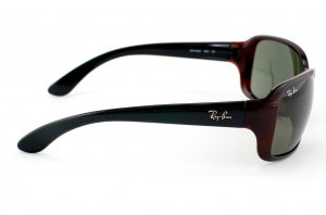 Очки Ray-Ban Highstreet RB4068-660 Transparent Dark Red | Natural Green (G-15XLT)