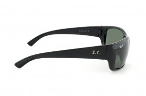 Очки Ray-Ban Highstreet RB4149-601 Black | Natural Green (G-15XLT)