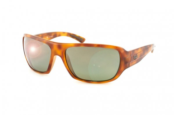 Очки Ray-Ban Highstreet RB4150-803-M4 Yellow Avana | Polarized Green GSM