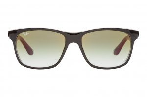 Очки Ray-Ban Highstreet RB4181-6039-W0 Black | Green Gradient Mirror