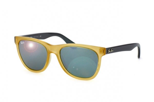 Очки Ray-Ban Highstreet RB4184-6043-40 Yellow, Grey | Silver Mirror