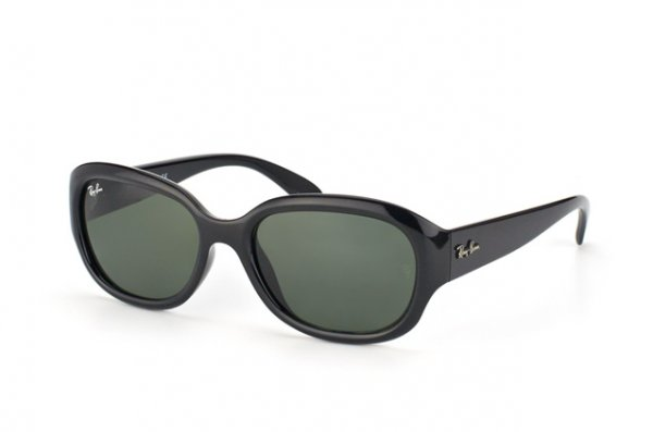 Очки Ray-Ban Highstreet RB4198-601 Black | Natural Green (G-15XLT)