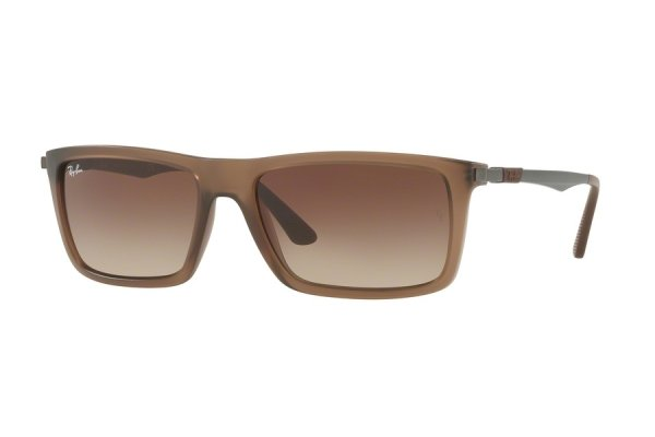Очки Ray-Ban Highstreet RB4214-6298-13 Matt Brown | Faded Brown