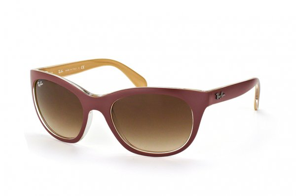 Очки Ray-Ban Highstreet RB4216-6193-13 Matt Aubergine On Beige| Gradient Brown