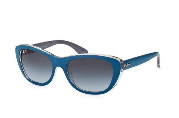 Очки Ray-Ban Highstreet RB4227-6191-8G Matt Blue On Crystal | Grey Gradient