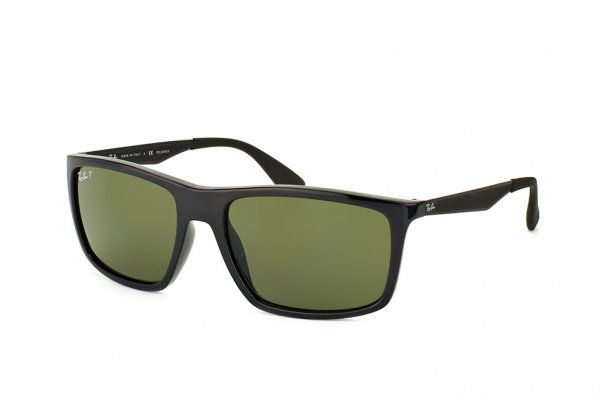 Очки Ray-Ban Highstreet RB4228-601-9A Black | Green/Grey  Polarized