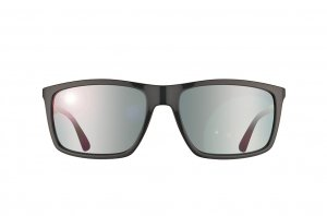 Очки Ray-Ban Highstreet RB4228-6185-88 Black /Red/Grey | Grey Mirror Gradient
