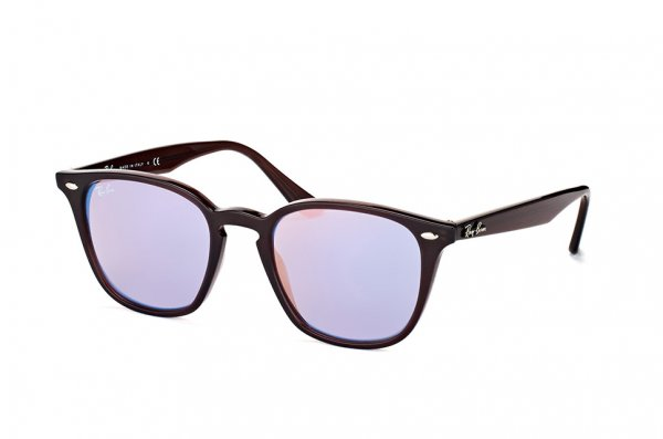 Очки Ray-Ban Highstreet RB4258-6231-1N Brown | Light Violet Mirror