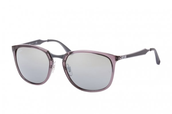 Очки Ray-Ban Highstreet RB4299-606-88 Transparent Grey | Silver Mirror