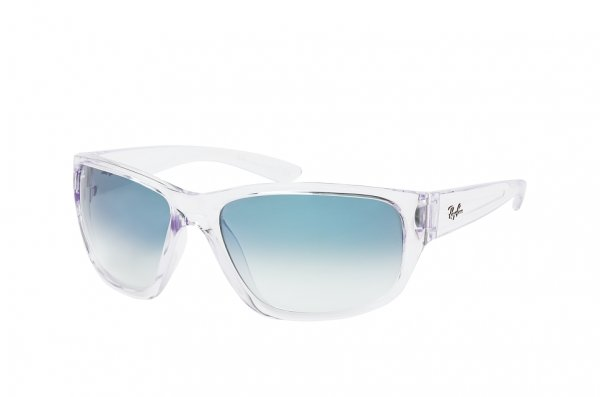 Очки Ray-Ban Highstreet RB4300-6325-3F Transparent White | Light Blue Gradient