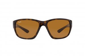 Очки Ray-Ban Highstreet RB4300-710-33 Dark Havana | Natural Brown