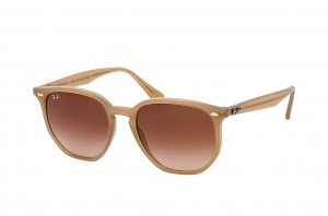 Очки Ray-Ban Highstreet RB4306-6166-13 Light Brown | Gradient Brown