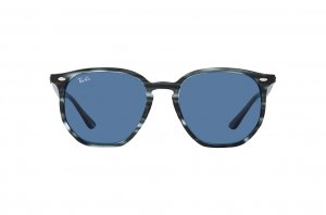 Очки Ray-Ban Highstreet RB4306-6432-80 Striped Grey | Dark Blue