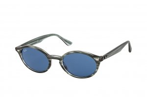 Очки Ray-Ban Highstreet RB4315-6432-80 Striped Grey | Natural Blue