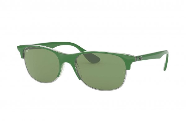 Очки Ray-Ban Highstreet RB4319-6410-2 Green | Light Green