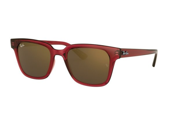 Очки Ray-Ban Highstreet RB4323-6451-93 Dark Red | Brown Mirror
