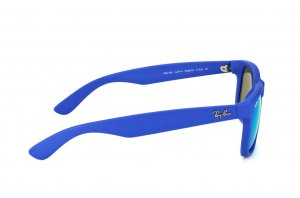 Очки Ray-Ban Justin RB4165-6088-55 Rubber Blue | Blue Mirror