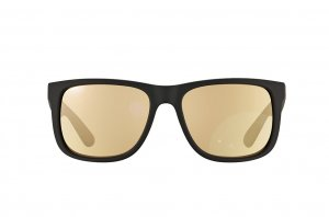 Очки Ray-Ban Justin RB4165-622-5A Rubber Black | APX Gold Mirror
