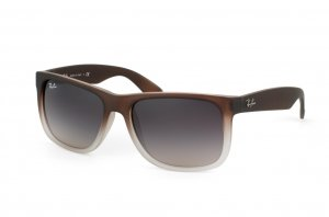 Очки Ray-Ban Justin RB4165-855-8G Brown/Transparent | Gradient Grey