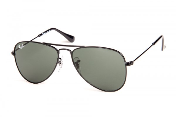 Очки Ray-Ban Kids and Junior Aviator RB9506S-201-71 Matte Black | Grey Green