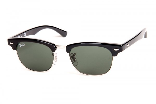 Очки Ray-Ban Kids and Junior Clubmaster RB9050S-100-71 Black | Grey/Green