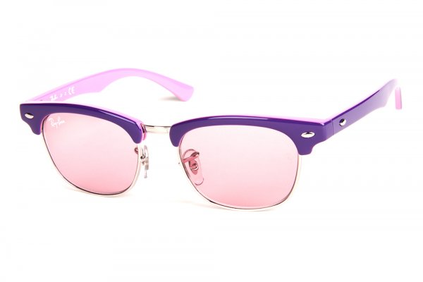 Очки Ray-Ban Kids and Junior Clubmaster RB9050S-179-7E Violet/Pink Faded