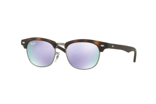 Очки Ray-Ban Kids and Junior Clubmaster RB9050S-7018-4V Matt Havana| Violet Mirror