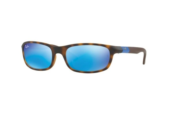 Очки Ray-Ban Kids and Junior RB9056S-7025-55 Havana | Blue Mirror