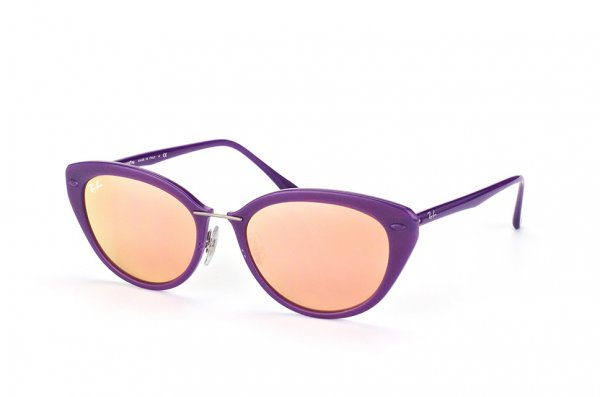 Очки Ray-Ban LightRay RB4250-6034-2Y Violet | APX Light Pink Mirror