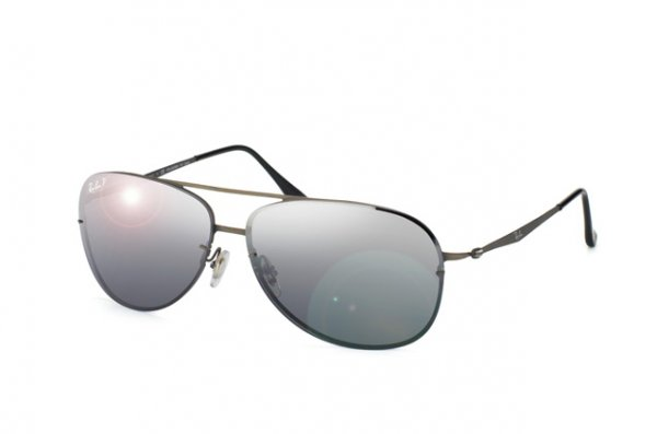 Очки Ray-Ban LightRay Titanium RB8052-154-82 Matt Gunmeal| Polar Grey GSM Polarized P3
