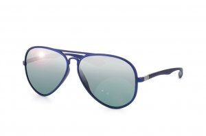 Очки Ray-Ban Liteforce Aviator RB4180-6015-88 Matte Blue | Grey Silver Mirror