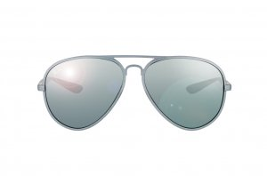 Очки Ray-Ban Liteforce Aviator RB4180-6017-88 Matte Grey | Grey Silver Mirror