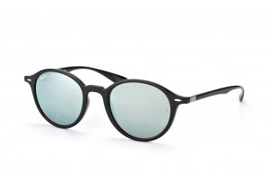 Очки Ray-Ban Liteforce Round RB4237-601-30 Black| Crystal Silver Mirror