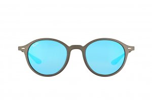 Очки Ray-Ban Liteforce Round RB4237-6206-17 Matt Dark Grey| APX Blue Mirror