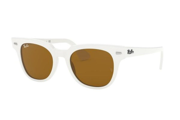Очки Ray-Ban Meteor Classic RB2168-1289-33 White | Natural Brown