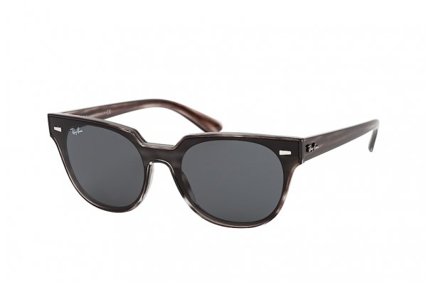 Очки Ray-Ban Meteor-Flat-Lenses RB4368N-6430-87 Striped Grey | Grey