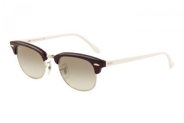 Очки Ray-Ban New Clubmaster RB2156-1010-32 Brown/White | Gradient Grey