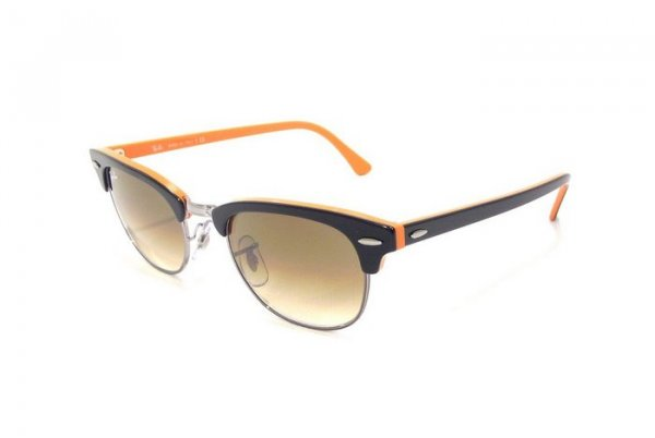 Очки Ray-Ban New Clubmaster RB2156-1012-51 Black, Orange, Silver | Faded Brown Gradient