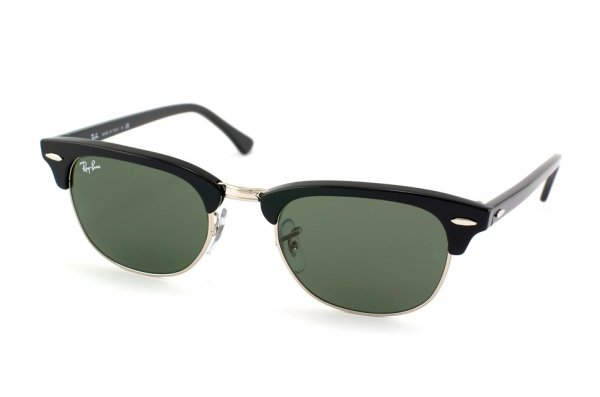 Очки Ray-Ban New Clubmaster RB2156-901 Black/Natural Green (G-15XLT)