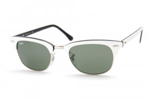 Очки Ray-Ban New Clubmaster RB2156-956 White on Black/Natural Green (G-15XLT)