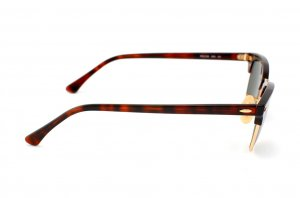 Очки Ray-Ban New Clubmaster RB2156-990 Arista/Red tortoise | Natural Green (G-15XLT)