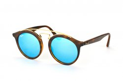 Очки Ray-Ban New Gatsby I RB4256-6092-55 Havana / Multilayer Blue Mirror Solid Color - Mirror