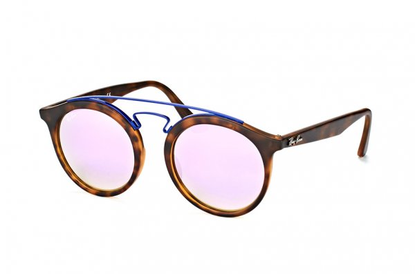 Очки Ray-Ban New Gatsby I RB4256-6266-B0 Havana/Blue | Light Violet